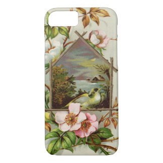 Capa iPhone 8/ 7 Birdhouse floral do vintage