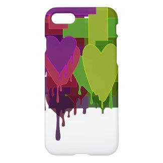 Capa iPhone 8/7 Blocos da cor que derretem corações