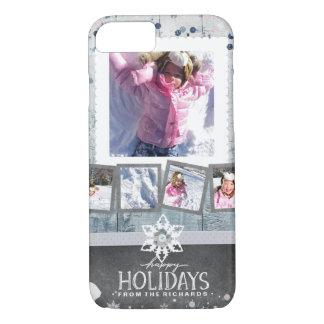 Capa iPhone 8/ 7 Boas festas inverno da colagem da foto do Natal 5