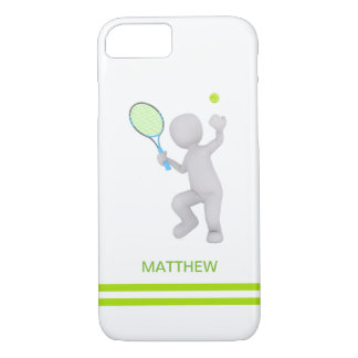 Capa iPhone 8/ 7 bola da raquete de tênis do jogador de ténis 3D
