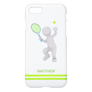 Capa iPhone 8/7 bola da raquete de tênis do jogador de ténis 3D