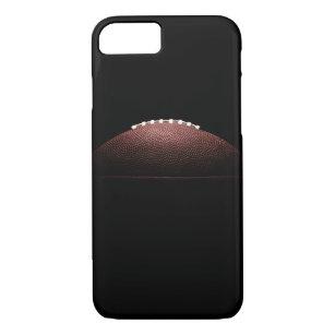 Capa iPhone 8  7 Bola do futebol americano no fundo preto a5ad17675563f