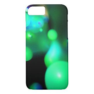 CAPA iPhone 8/ 7 BOLHAS DO FRACTAL DO VERDE AZUL DA CERCETA NO