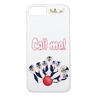 Capa iPhone 8/ 7 Boliche feliz & Penguinpins pelos comp(s) felizes