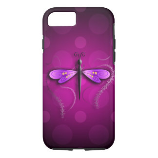 Capa iPhone 8/ 7 Bolinhas cor-de-rosa da mosca do dragão!