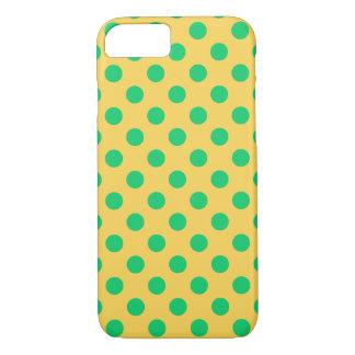 Capa iPhone 8/ 7 Bolinhas verdes no amarelo