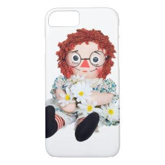 Capa iPhone 8/ 7 Boneca de pano com buquê da margarida