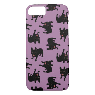 Capa iPhone 8/ 7 Bonito todo o filhote de cachorro rajado preto do