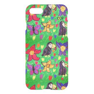 Capa iPhone 8/7 Borboleta da flor de Toucan
