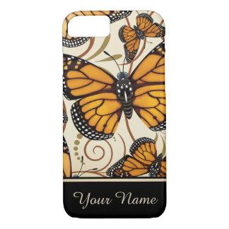 Capa iPhone 8/ 7 Borboleta de monarca personalizada