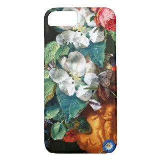 Capa iPhone 8/ 7 BORBOLETA nas FLORES BRANCAS florais