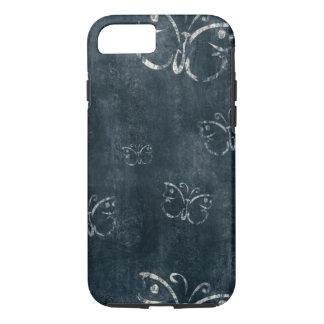 Capa iPhone 8/ 7 Borboletas antigas em azul escuro