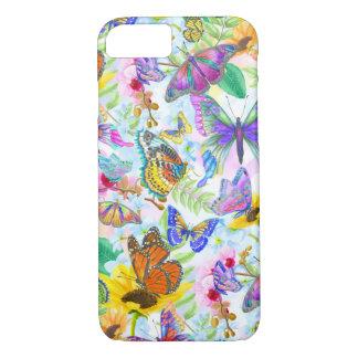 Capa iPhone 8/ 7 Borboletas e flores