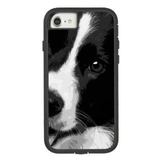 Capa iPhone 8/ 7 Border collie preto e branco