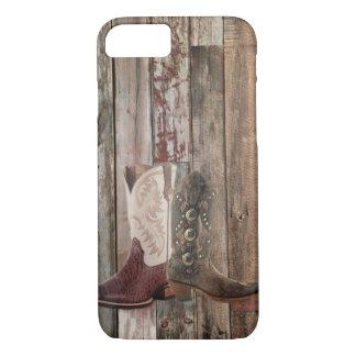 Capa iPhone 8/ 7 Bota de vaqueiro ocidental do país de madeira
