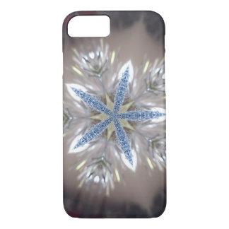 Capa iPhone 8/ 7 Branco azul brilhante da estrela festiva elegante