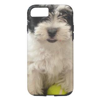 Capa iPhone 8/ 7 Branco do preto do filhote de cachorro do