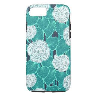 Capa iPhone 8/ 7 Branco e muffin Fleur de turquesa