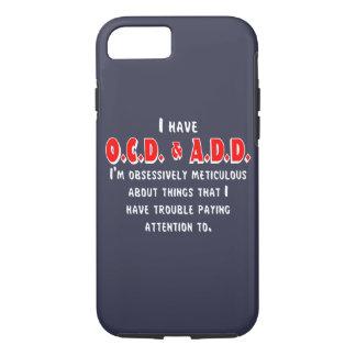 Capa iPhone 8/ 7 Branco/vermelho de OCD-ADD