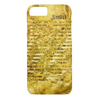 Capa iPhone 8/ 7 Brilhante simulado do papel da folha de ouro