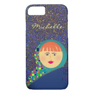 Capa iPhone 8/ 7 Brilho do hipster da boneca do russo de Matryoshka