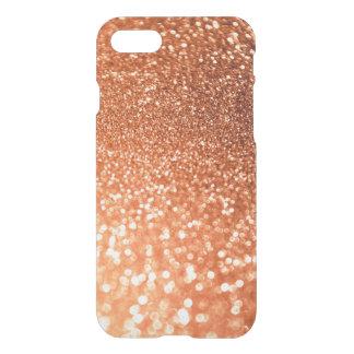 Capa iPhone 8/7 Brilho na moda brilhante de cobre Sparkling de