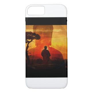Capa iPhone 8/ 7 Buddha com fundo do por do sol