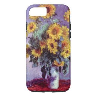 Capa iPhone 8/ 7 Buquê dos girassóis por Claude Monet, arte do