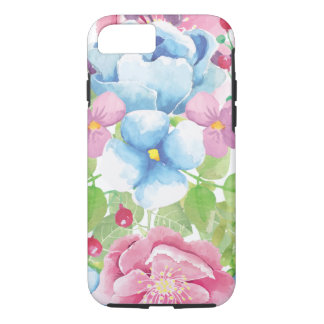 Capa iPhone 8/ 7 Buquê floral da aguarela bonito