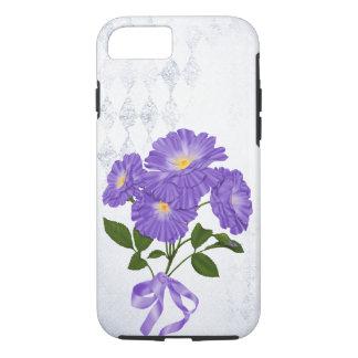 Capa iPhone 8/ 7 buquê roxo da flor com fita
