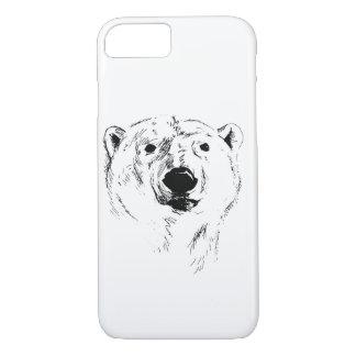 Capa iPhone 8/ 7 Cabeça do urso polar
