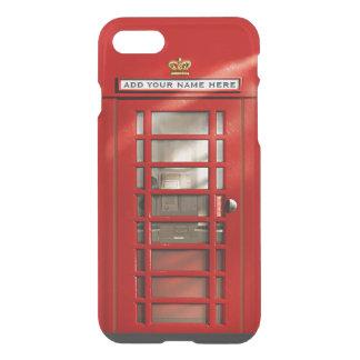 Capa iPhone 8/7 Cabine de telefone vermelha britânica engraçada