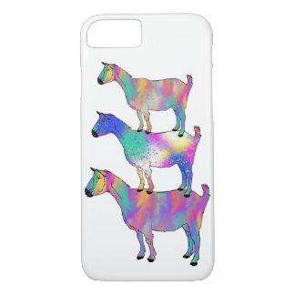 Capa iPhone 8/ 7 Cabra que está na arte animal psicadélico