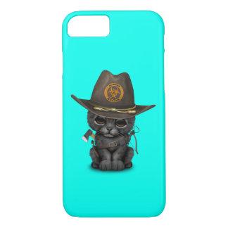 Capa iPhone 8/ 7 Caçador bonito do zombi de Cub da pantera preta