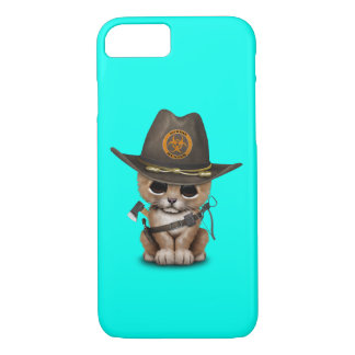 Capa iPhone 8/ 7 Caçador bonito do zombi de Cub de leão
