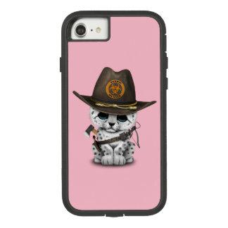 Capa iPhone 8/ 7 Caçador bonito do zombi de Cub do leopardo de neve