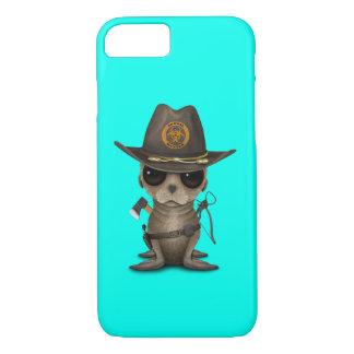 Capa iPhone 8/ 7 Caçador do zombi do leão de mar do bebê