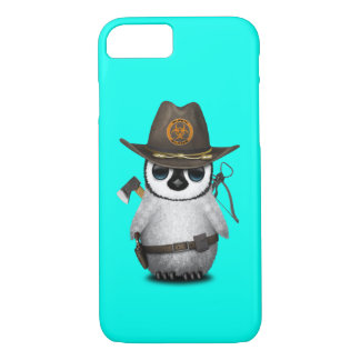 Capa iPhone 8/ 7 Caçador do zombi do pinguim do bebê