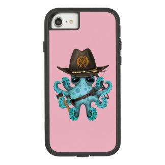 Capa iPhone 8/ 7 Caçador do zombi do polvo do bebê azul