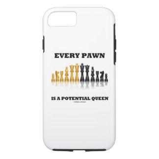 Capa iPhone 8/ 7 Cada penhor é uma xadrez potencial da rainha que