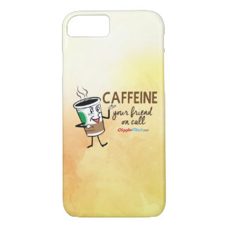 Capa iPhone 8/ 7 Cafeína, seu amigo na chamada