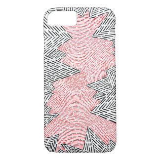 Capa iPhone 8/ 7 Caixa abstrata preta, branca, e do vermelho de