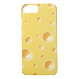 Capa iPhone 8/ 7 Caixa amarela do iPhone 7 da textura da fatia do