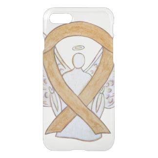 Capa iPhone 8/7 Caixa ambarina do iPhone 7 do anjo da fita da