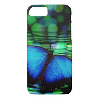 Capa iPhone 8/ 7 Caixa azul do iPhone 6 da borboleta