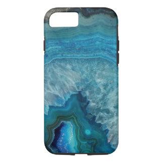 Capa iPhone 8/ 7 Caixa azul do telemóvel de minerais de Geode