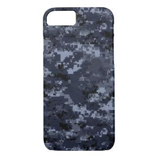 Capa iPhone 8/ 7 Caixa azul militar do iPhone 7 de Camo mal lá