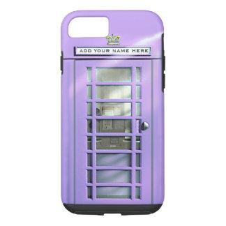 Capa iPhone 8/ 7 Caixa britânica do telefone do Lilac engraçado