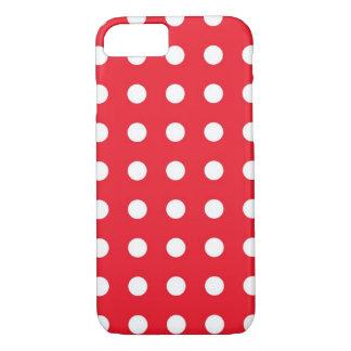 Capa iPhone 8/ 7 Caixa chique branca vermelha do iPhone 7 das