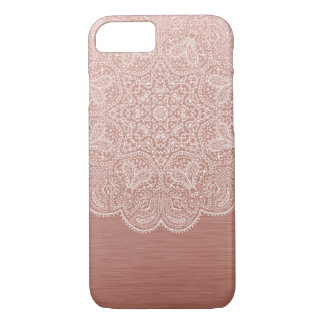 Capa iPhone 8/ 7 Caixa cor-de-rosa do iPhone 7 da mandala do ouro